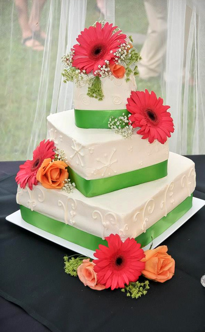 Custom Decorated Wedding Cake
